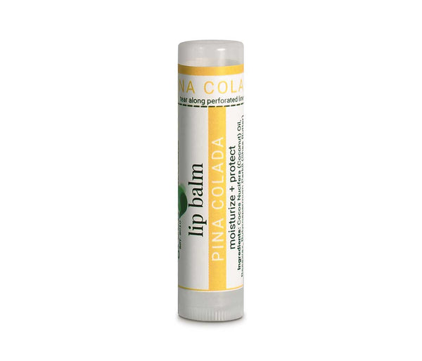 Organic Pina Colada Lip Balm for Dry, Chapped Lips