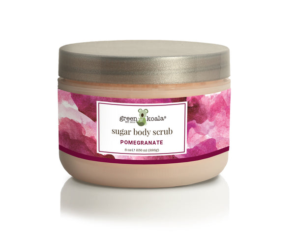 Organic Pomegranate Exfoliating Sugar Body Scrub-8 oz