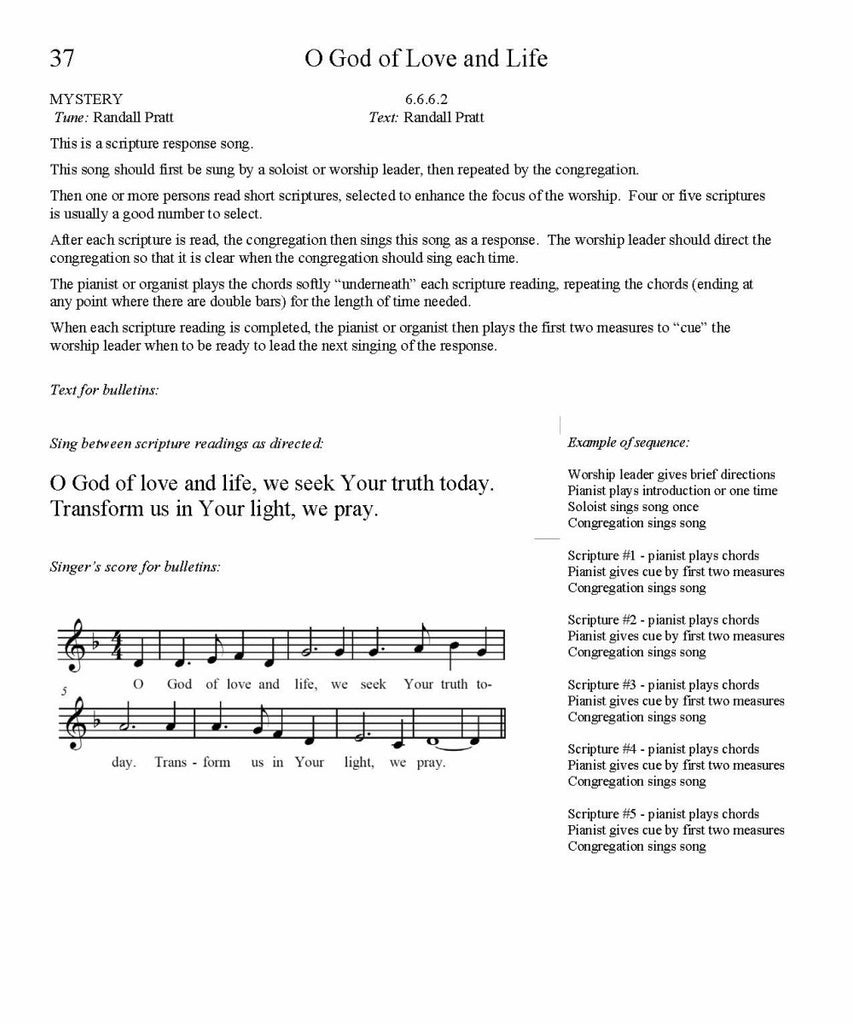 O God of Love and Life Song Lyrics (PDF Download)