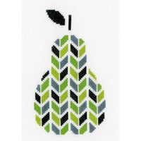 Abstract Pear Cross Stitch Kit
