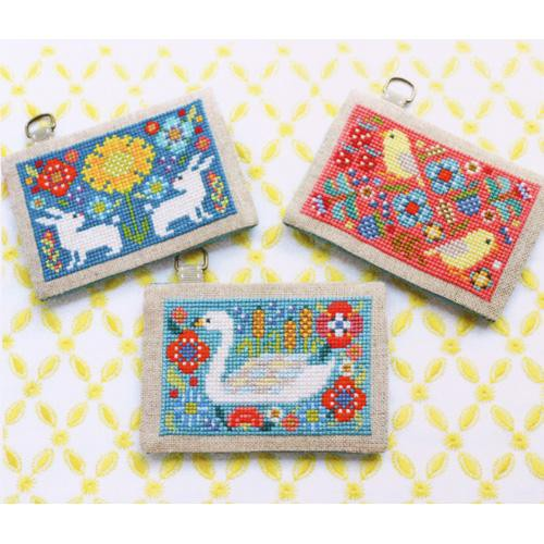 Card Cases with Flowers (Series 1) Cross Stitch Pattern