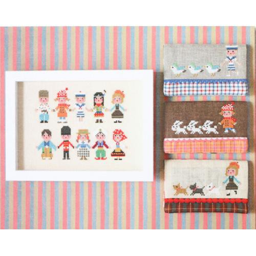 International Kids (Series 2) Cross Stitch Pattern