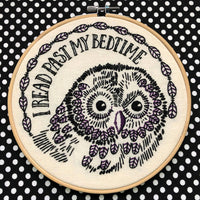 I Read Past My Bedtime Handmade Embroidery Kit
