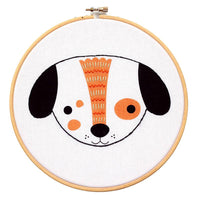 Screen Printed Puppy Hand Embroidery Kit