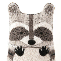 Hand Embroidered Plushie Doll Kit - Raccoon