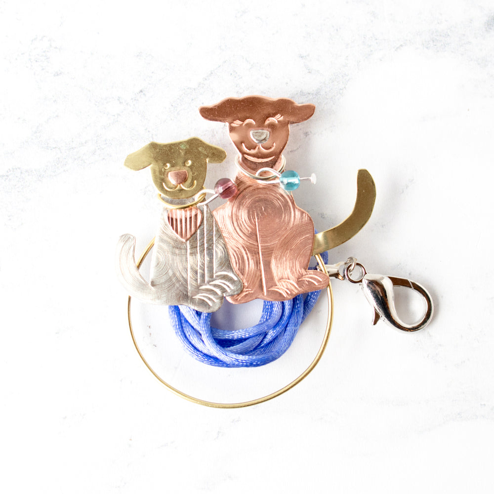 Handcrafted Scissor Sitter and Needle Minder - Puppies