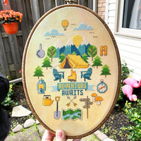 Adventure Awaits Cross Stitch Pattern