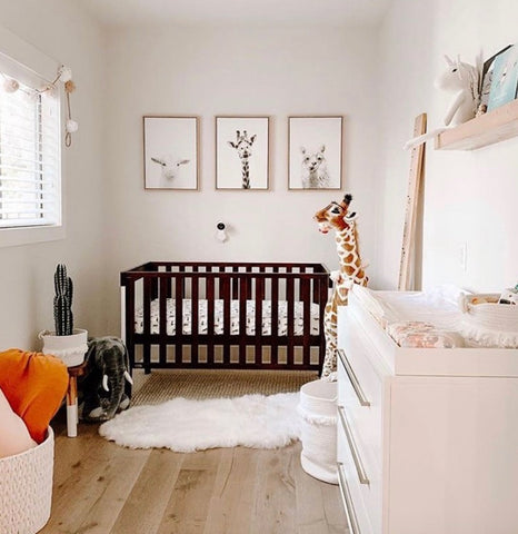 gender-neutral-baby-room-nursery-goals-pinterest-moms-white-loft-height-chart