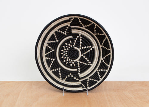Large Black + White Mara Bowl