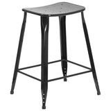 This stool will add a modern industrial appearance to your home or work space. This stool has a slim frame that is great in small spaces. Drain holes in the seat provide a unique appearance and aid in faster drying times. This all-weather use stool is great for indoor and outdoor settings. For longevity, care should be taken to protect from long periods of wet weather.