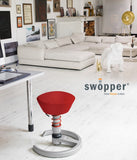 Swopper Chair and Stool provides ergonomic support when sitting at your office desk
