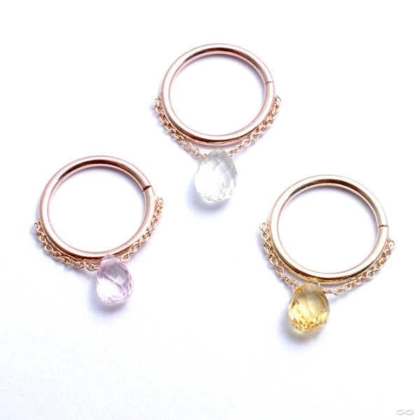 Briolette Seam Ring in Gold from Pupil Hall in assorted materials
