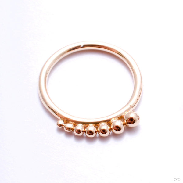 Shadow Play Seam Ring in Gold from Sleeping Goddess Jewelry in yellow gold