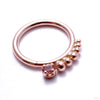 Shadow Play Seam Ring in Gold with Stone from Sleeping Goddess Jewelry with pink topaz