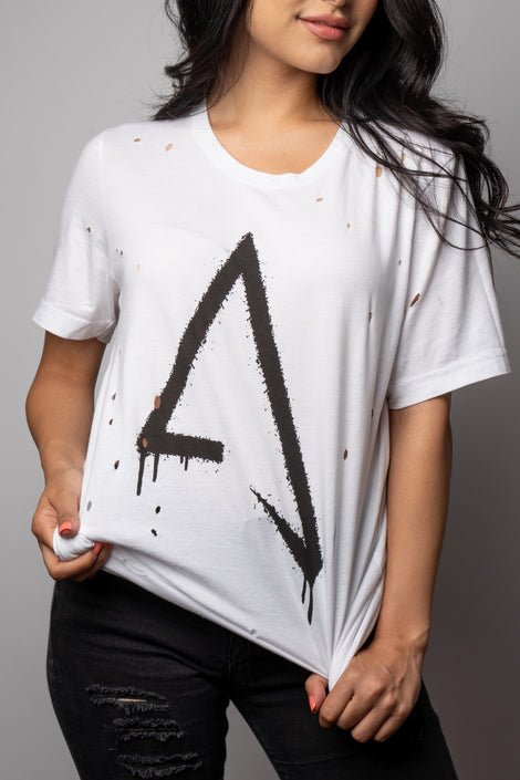 Abraham Vazquez Distressed Tee