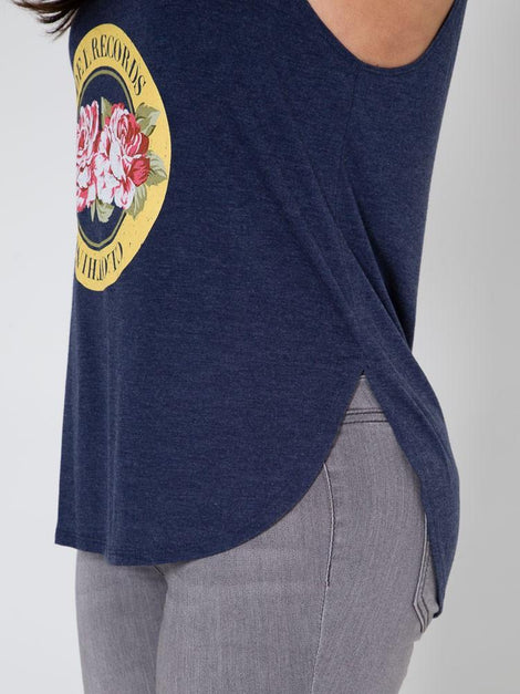 Del Records Flowers Woman's Tank
