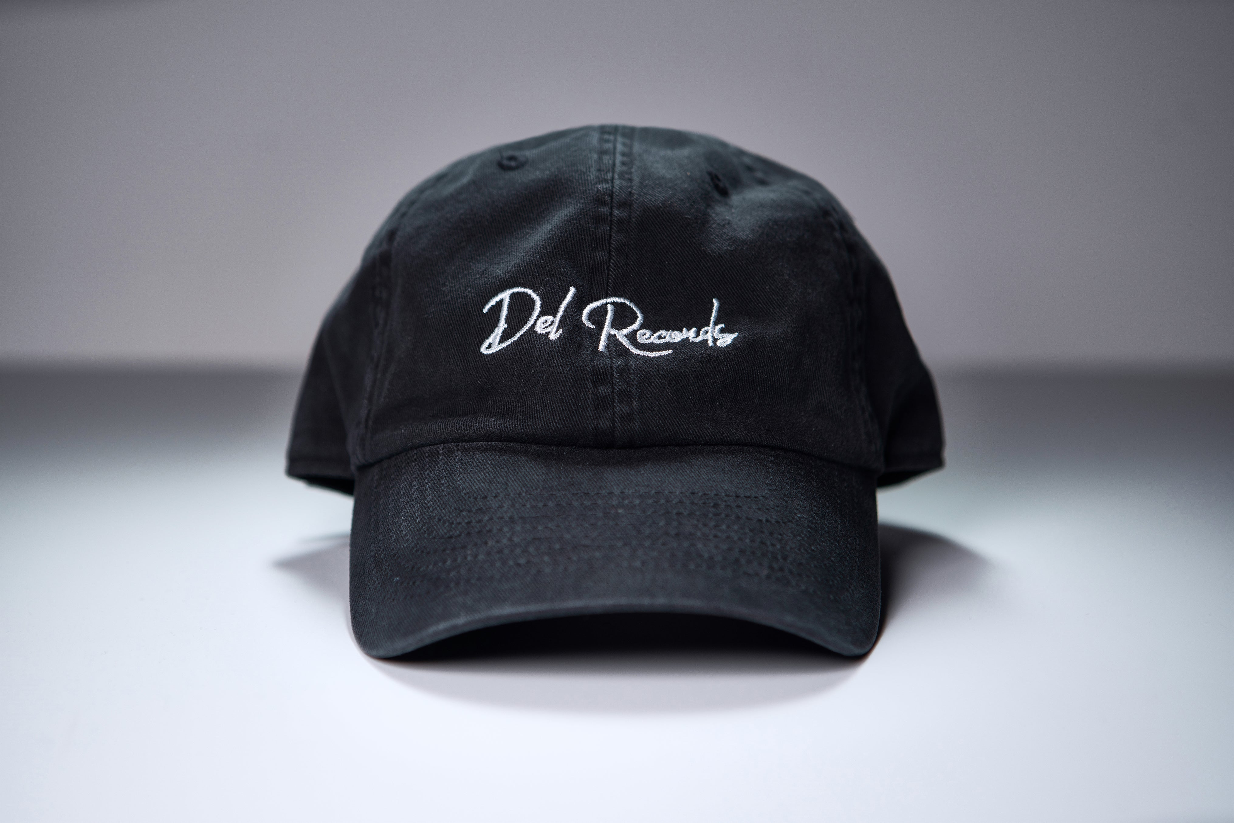 Del Records Script Dad Hat
