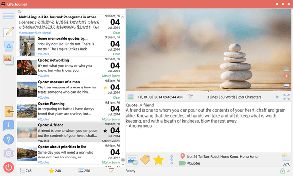 Life Journal - A beautiful, secure, full featured journal/diary app (compatible with Day One)