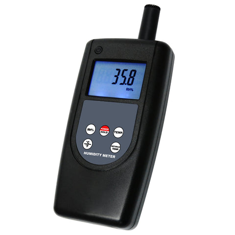 HT-1292 Digital Humidity Temperature Meter Tester Indoor Outdoor, 10~95%RH Temp -10~60 °C (14~140°F) with Wet Bulb Temp