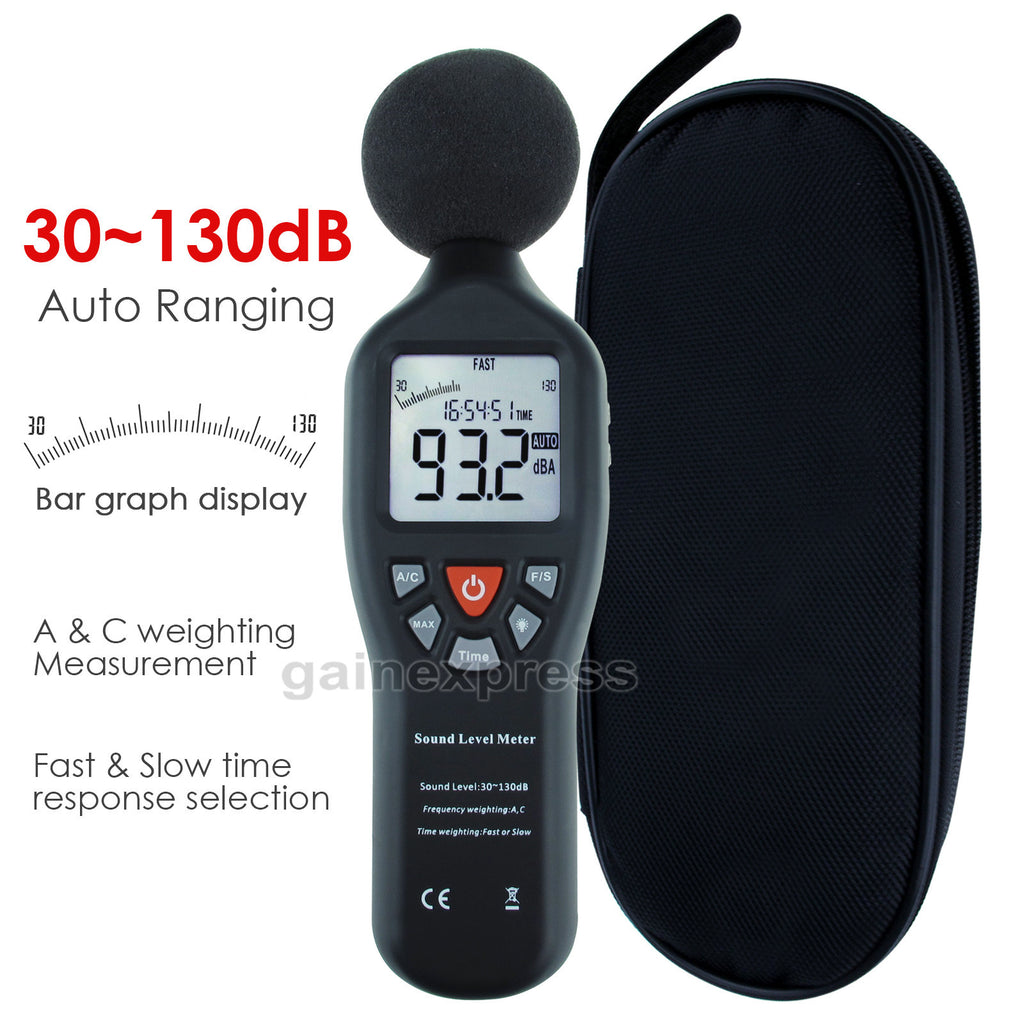 SLM-24 Professional Sound Level Meter with Backlit Display High Accuracy Measuring 30dB-130dB Compact Instrument