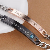 His Angel & Her Demon Infinite Love Couple Bracelets Stainless Steel Men Promise Jewelry with Box