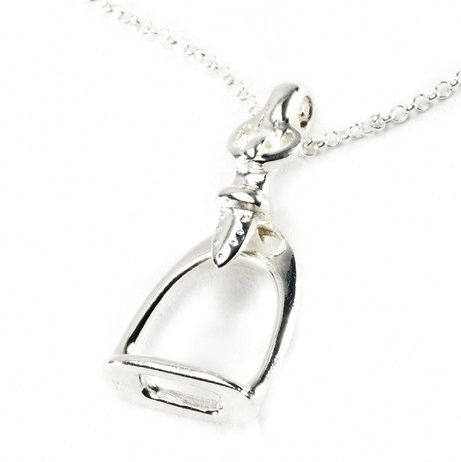 Hiho Silver Small Stirrup Pendant | Sterling Silver - RedMillsStore.ie