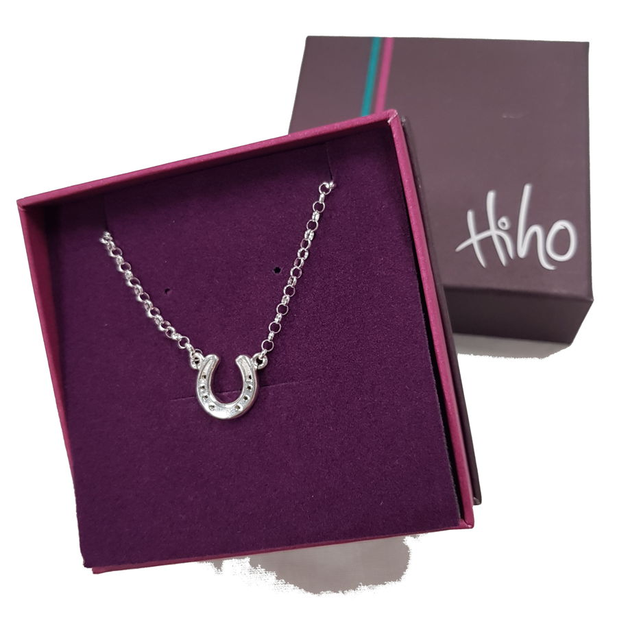 Hiho Silver Sterling Silver Horseshoe Necklace