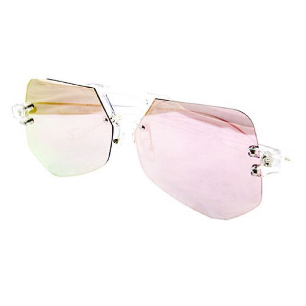 Rimless Aviator Sunglasses