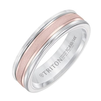 Tungsten & Rose Gold Band