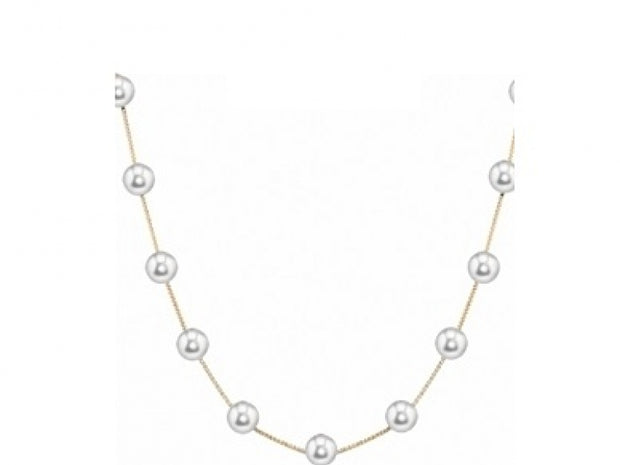 Freshwater Cultured Pearl Station Necklace