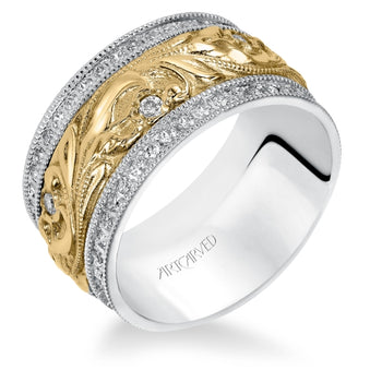 14K White/Yellow Gold Anniversary Band