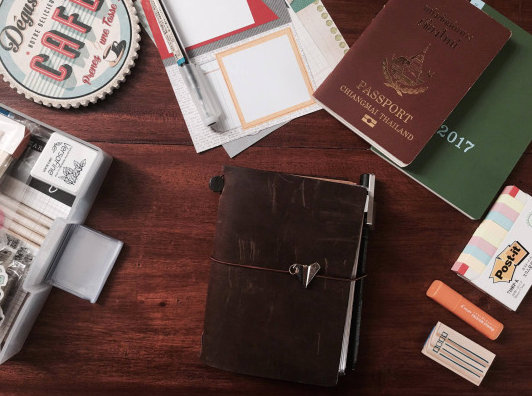 Midori Traveler's Notebook -Passport Size Set Up
