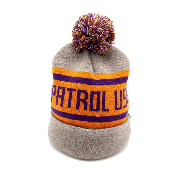 Orange & Purple Pompom