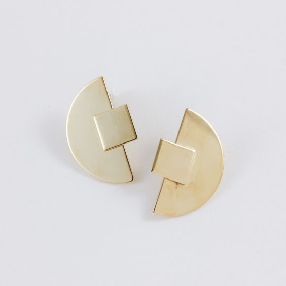 Phase Gold Earrings