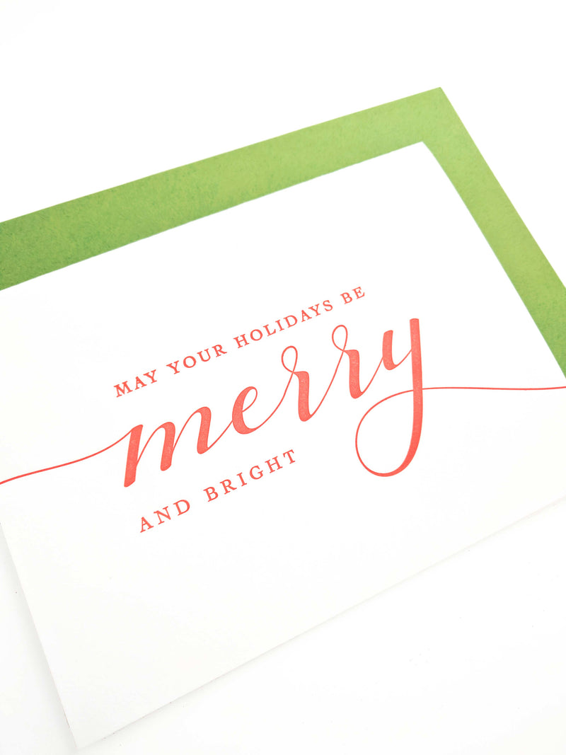Merry and Bright Letterpress Card - Tea and Becky