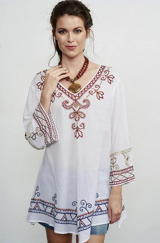 ROJA COLELCTION NAVAJO NATIONS PEASANT TOP ON SALE