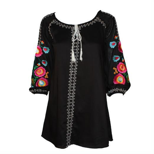 Vintage Collection Black Palm Springs Tunic