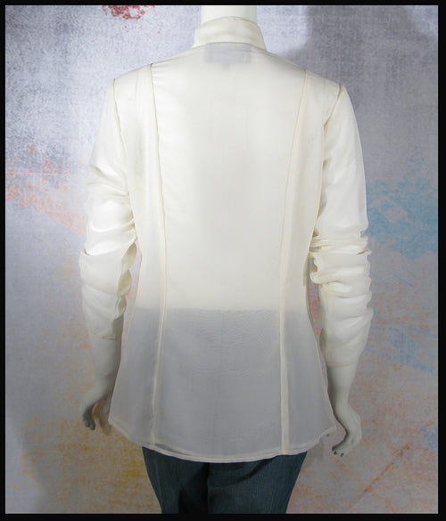 Vintage Collection Ivory Ruched Blouse