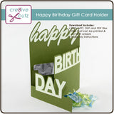 Happy Birthday Gift Card Holder