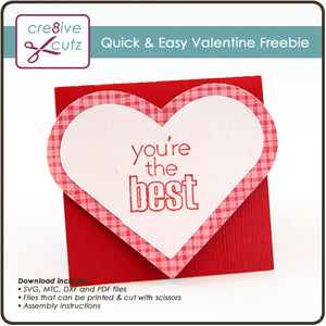 Kids Craft Valentine's Day Card for Cricut, Silhouette