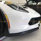 Corvette C7 Metallic Carbon Flash Front Splitter Lip W/ Stage 3 Wickerbill Side Winglets