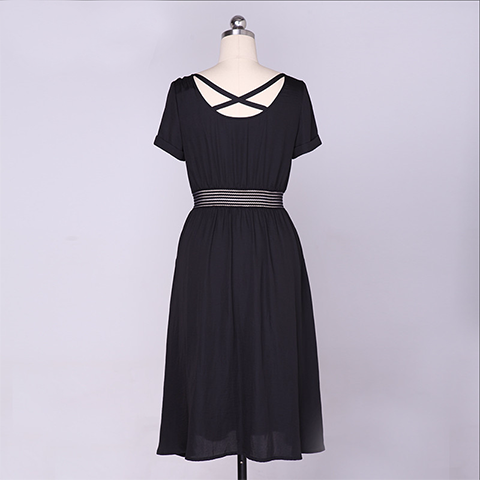 Round Neck One Piece Dress