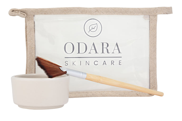 ODARA vegan mask brush and bowl