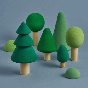 Wooden Trees Forest Set by Raduga Grez