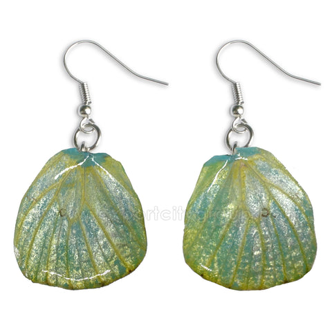 Real Butterfly Wings Jewelry Earring - WG04 Dyed Turquoise
