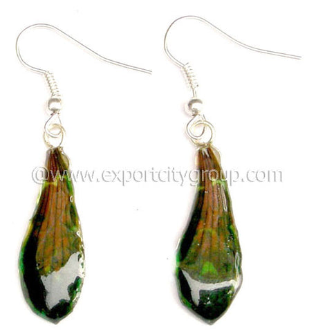 "Tiger CAT Tiger Orchid Jewelry Petal Earring ""S"" (Green)"