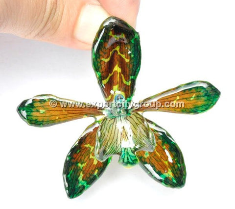 Tiger CAT Tiger Orchid Jewelry Pendant (Green)