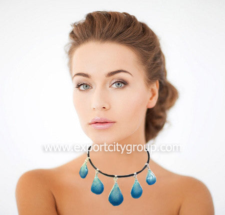 "Lucy ""Dendrobium"" Orchid Petal Choker Necklace (9 colors option)"