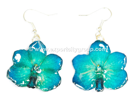 Vanda CANDY Orchid Jewelry Earring (Blue)