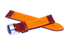 Oil Tanned Red Brown Leather Strap